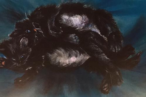 """DOUBLE SLUMBER"" Acrylic by Shery Polansky"