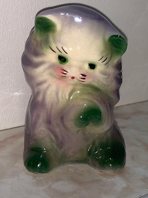 purple cat vase; cat cake topper; purple cat
