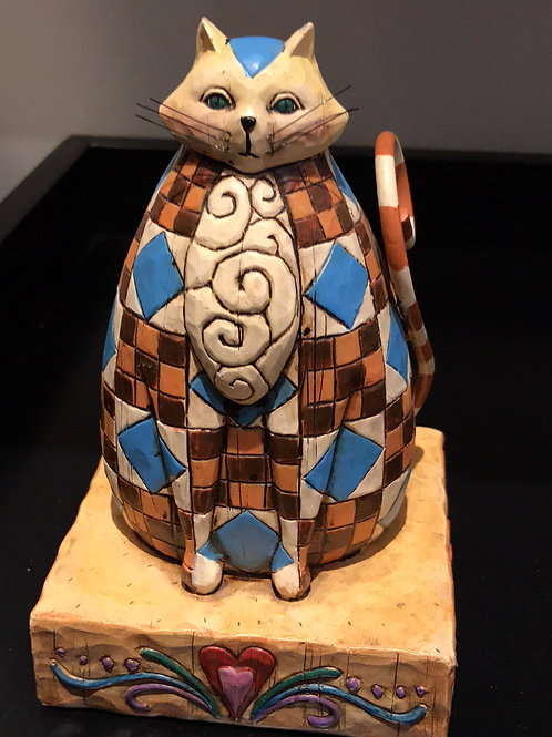 checkered cat; abigail cat; whimsy cat