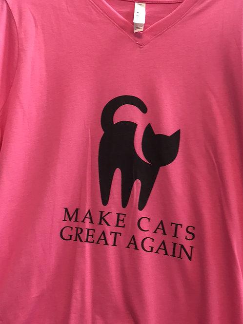 "Cats ""MAKE CATS GREAT AGAIN"" T-Shirt-Pink"