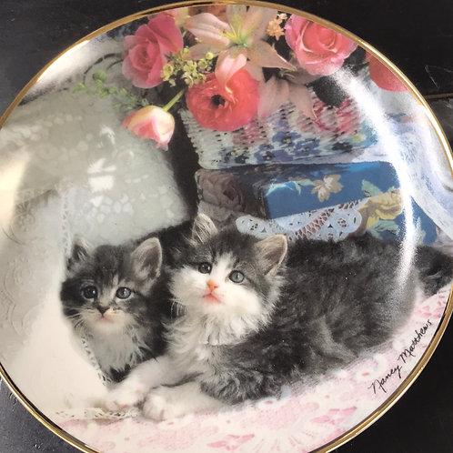 persian, limited edition, cat plate, Nancy Matthews,