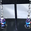 Thumbnail: CATS GLASS CAT EARRINGS- Purple and Blue
