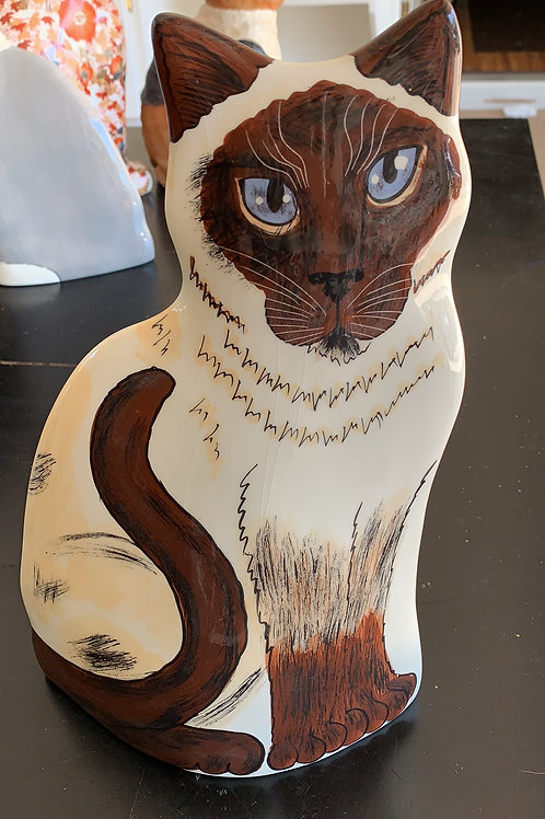 siamese vase, cats by nina siamese, seal point
