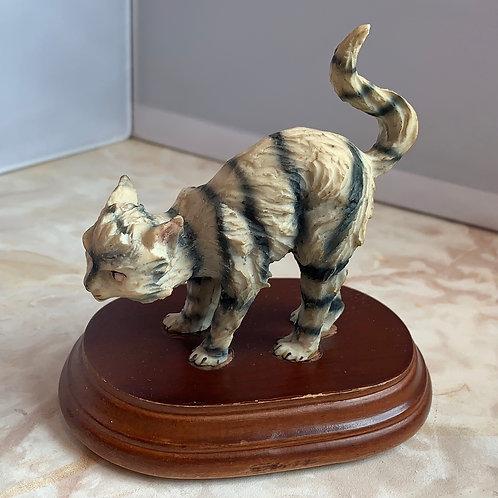carved striped tabby
