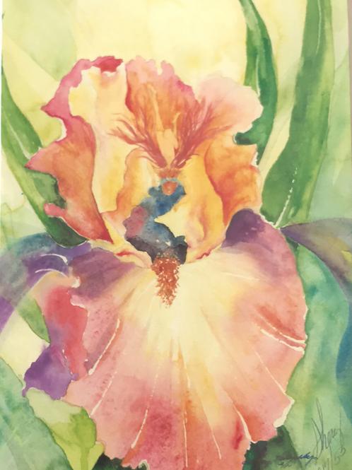 """PEEPING FAIRY"" Watercolor by Shery Polansky HIDDEN FAIRY SERIES"
