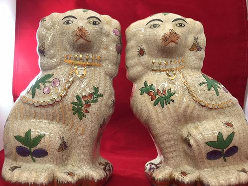 *Vintage Staffordshire Ceramic Dog Pair