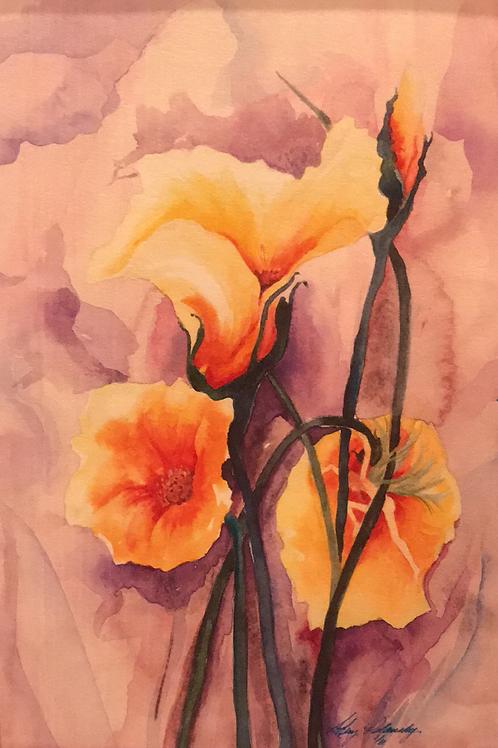 """WORKING FAIRY"" Watercolor by Shery Polansky HIDDEN FAIRY SERIES"