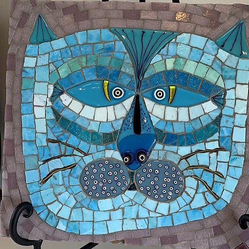 fish cat, dichroic cat, mosaic cat