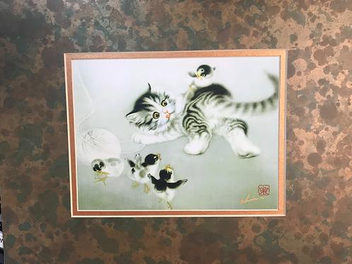 Vintage Chinese Brush Painting print 2