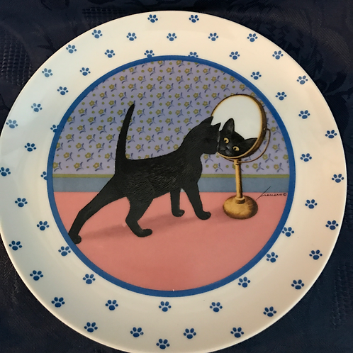 COLLECTORS CAT PLATE by LOWELL HERRERO