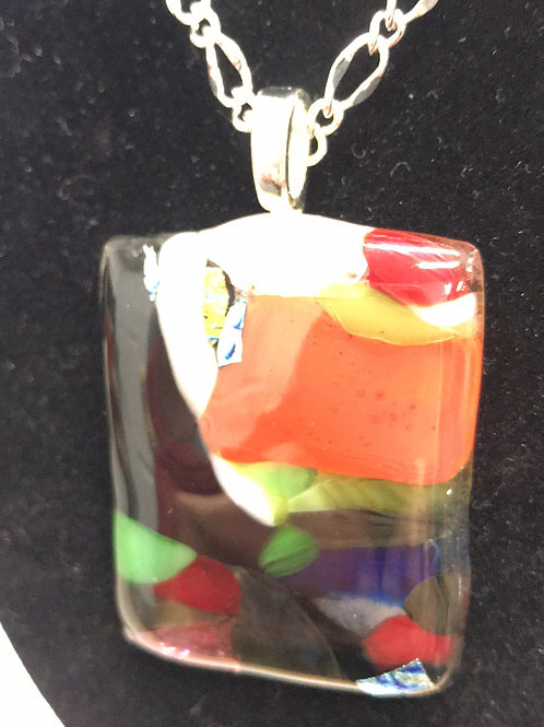 Fused Glass Pendant by Tannis