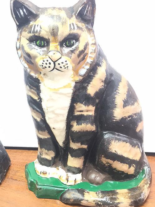 tabby door stop, cast iron cat, guard the door