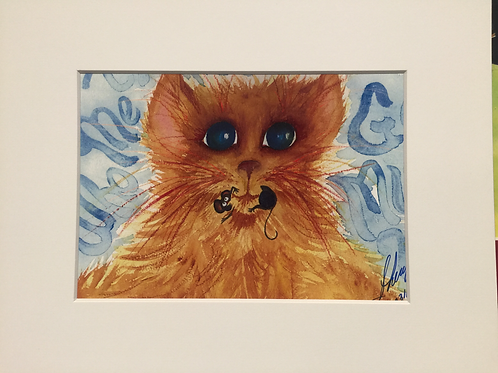 "Polansky ""WHO MEE?"" watercolor print"