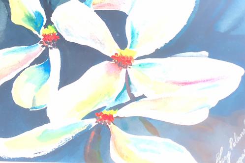 """""""DOGWOOD"""" Watercolor by Shery Polansky"""