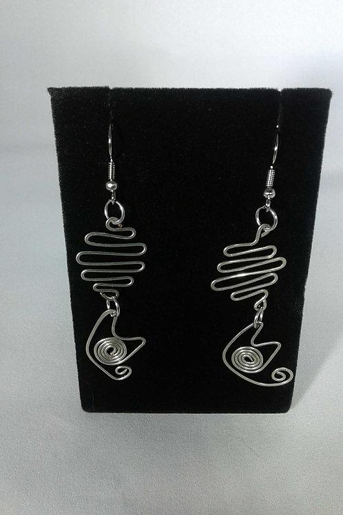 CATS Wire Wrap Earrings