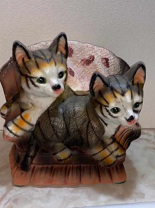 tabbies on the sofa; sofa cats