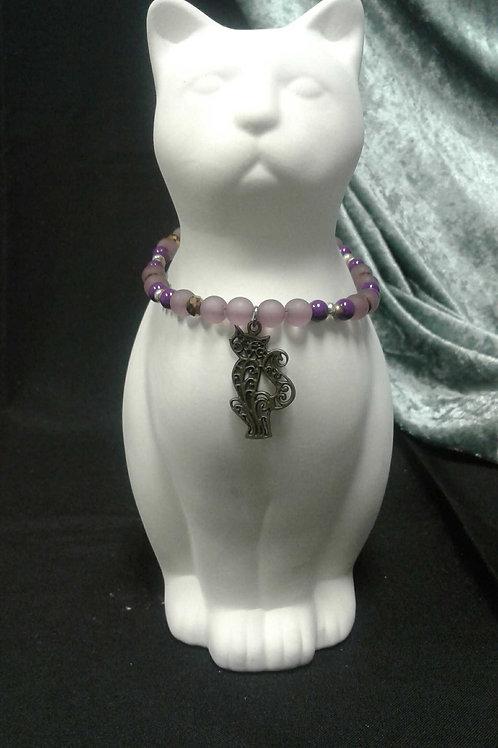 Gold & Purple Cat Collar