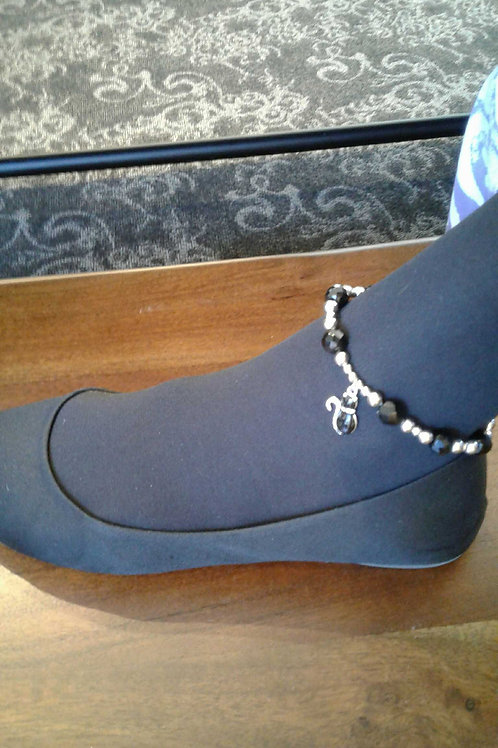 Anklet Black and Silver