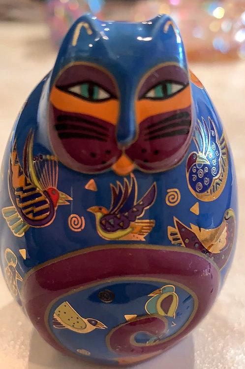 bird cat, blue cat, laurel burch, egg cat