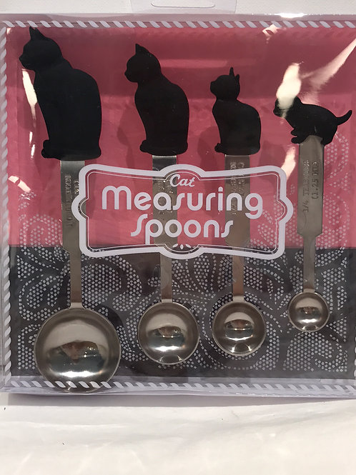 STAINLESS CAT MEASURING SPOONS