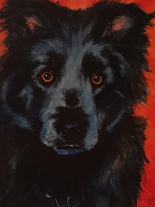 """""""BLUE BOY"""" Watercolor by Shery Polansky"""