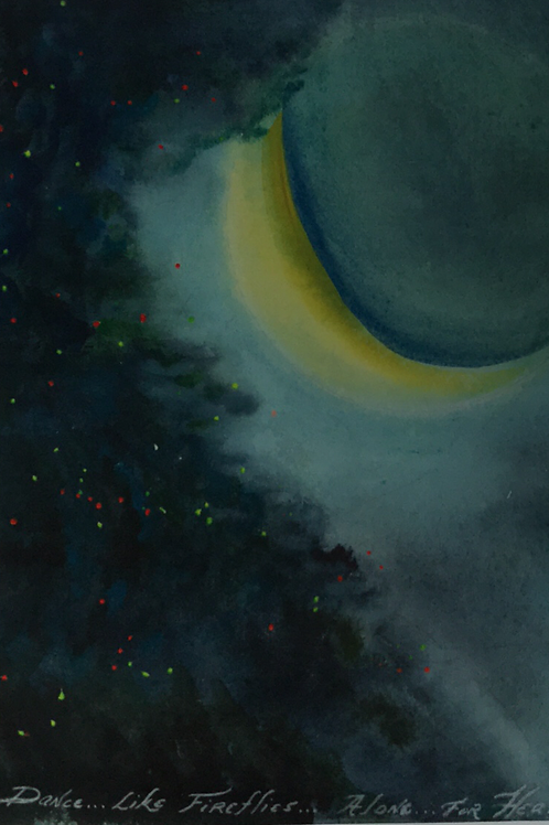 """FIREFLIES"" Watercolor by Shery Polansky"