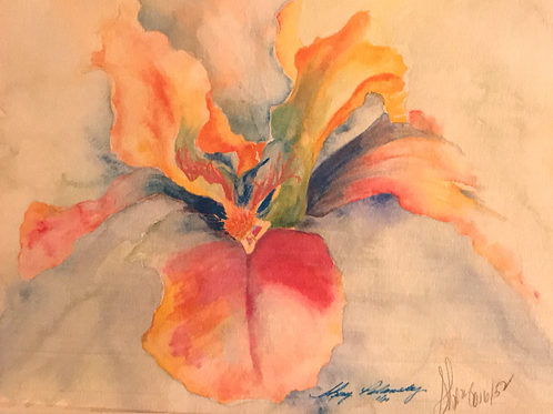 """PRAYING FAIRY"" Watercolor by Shery Polansky"