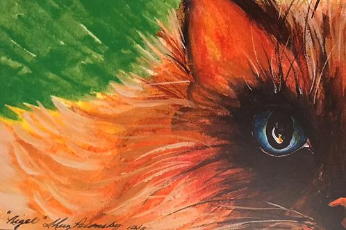 """""""NIGEL"""" Watercolor by Shery Polansky"""