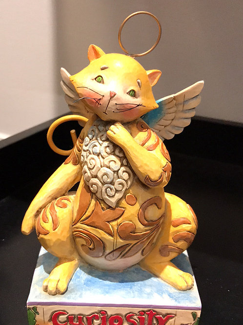 CURIOSITY; ANGEL CAT; TABBY ANGEL; WHIMSY CAT