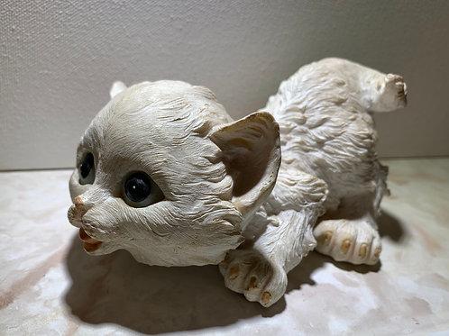 playful kitten; resin kitten