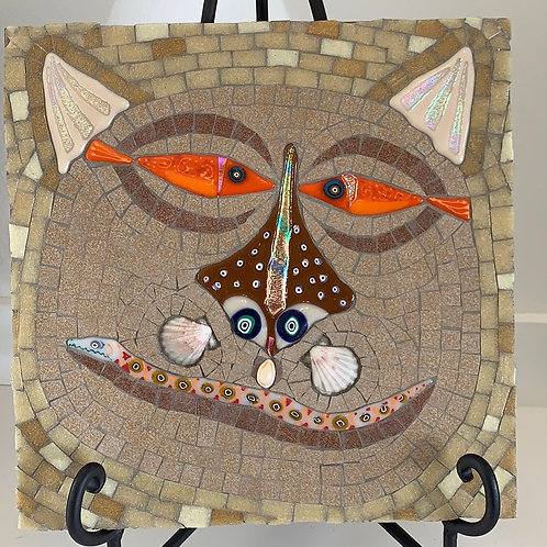 fish eyes, flounder nose, snake smile, glass cat