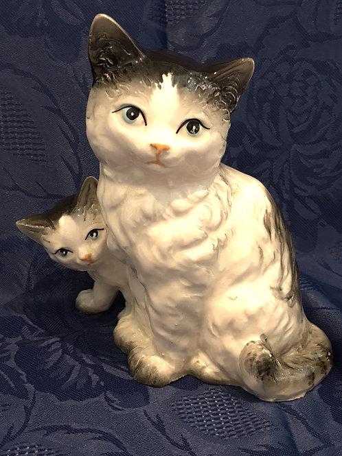VINTAGE Mama w/ Kitten JAPAN BONE CHINA