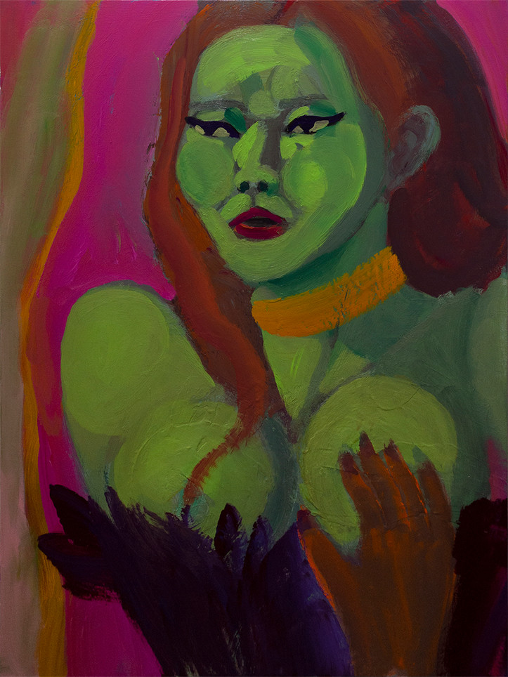 Chun Park, Hulk, 2019, Acrylic on canvas, 40 x 30 inches, $700