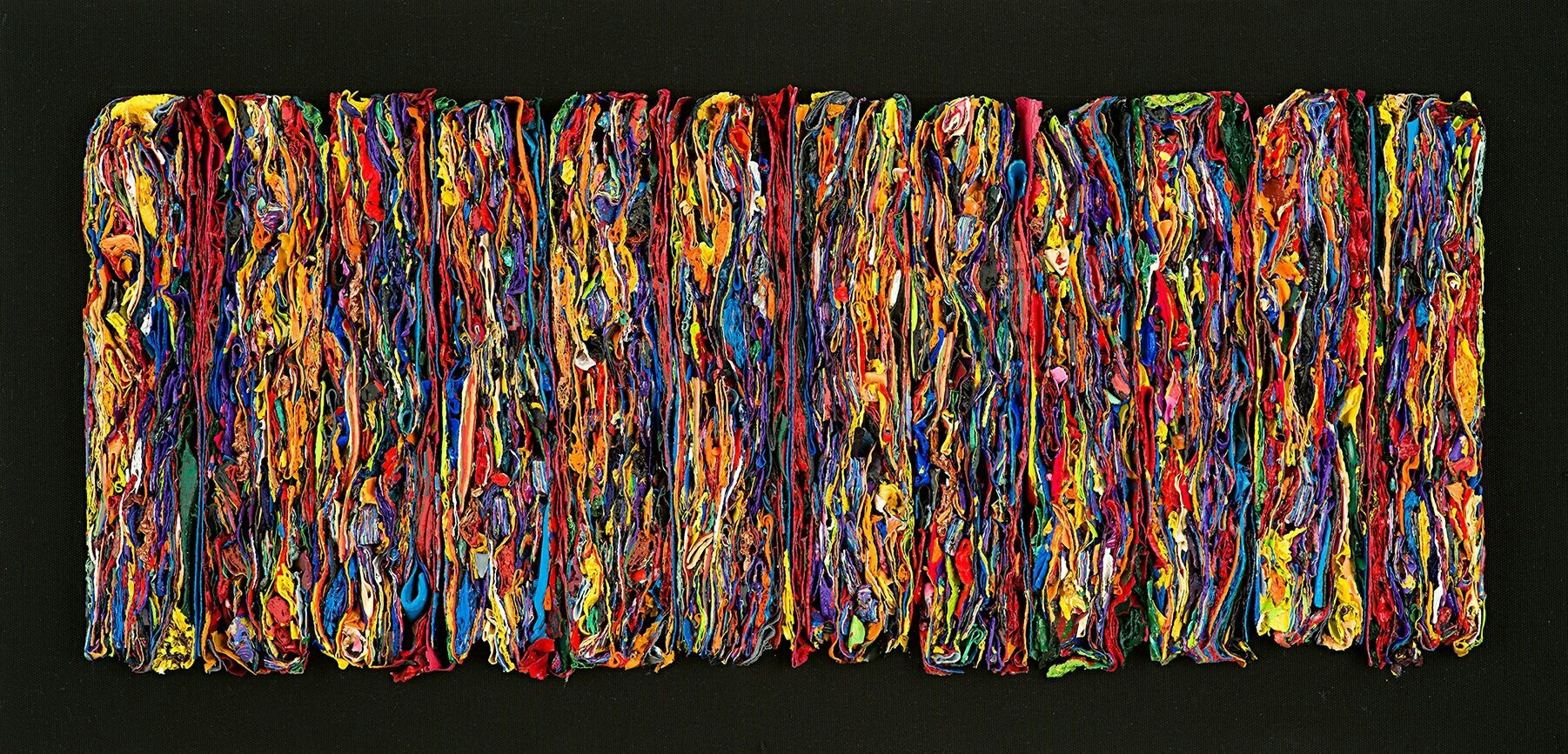 Kwon Kija, Time accumulation, 2019, Acrylic on panel, 50 x 120 cm, $7,000
