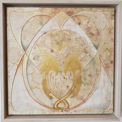 White Art Nouveau 1 with MOP, 2021