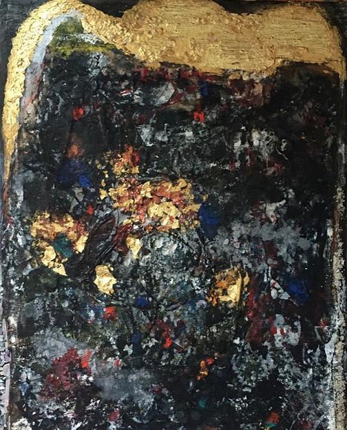Jung Sun Moon, Mountain King, Mixed media,30 x 21 inches, $3,000