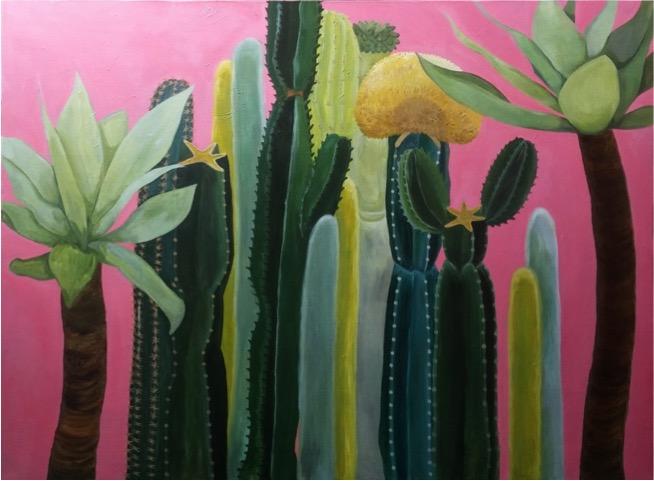 Pink Cactus Garden