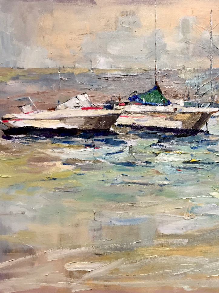 Christin Seo, On the morning arrived, 2020, Oil on canvas, 36 x 24 inches, $2,000