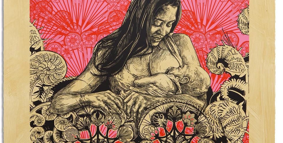 SWOON, Art Print, Dawn & Gemma Edition, 2014, 32 x 32 inches, 2014
