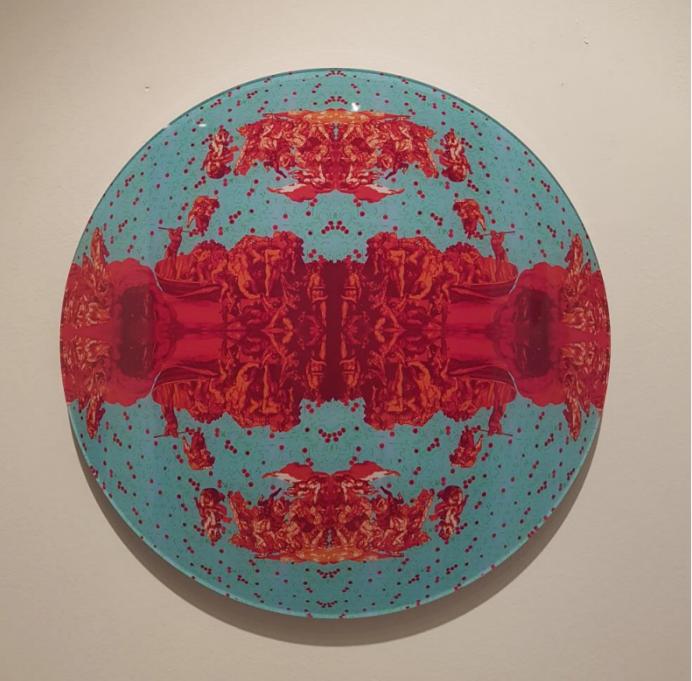 Kim Yunkyung, Layey10_Chaos, 35cm diameter, Diasec, 2019, $700