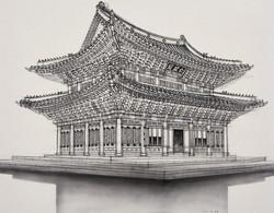 01 monument_창덕궁-캔버스천에 수묵, 73x91cm,2017