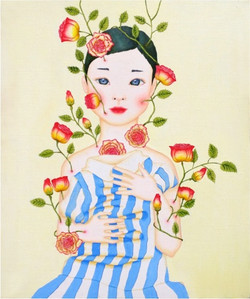A Girl, Who grows roses