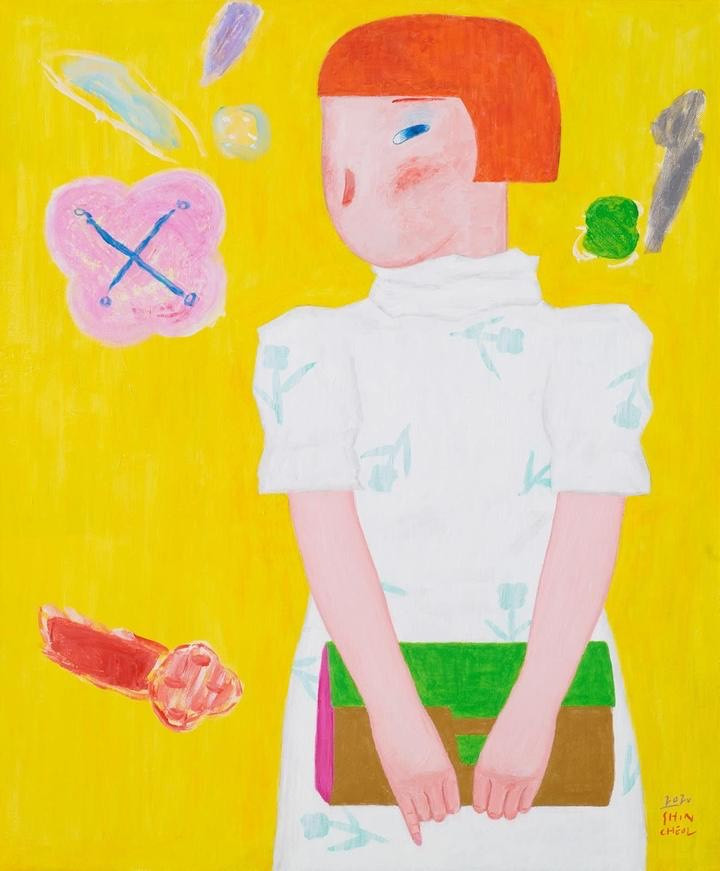 Cheol Shin, Waiting For you, Acrylic on Canvas, 24 x 29 inches, 2020, $6,000
