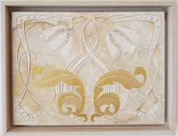 White Art Nouveau 2 with MOP, 2021White Art Nouveau 2 with MOP, 2021