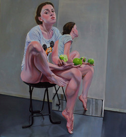 The apple`s syndrome  - oil on canvas 13