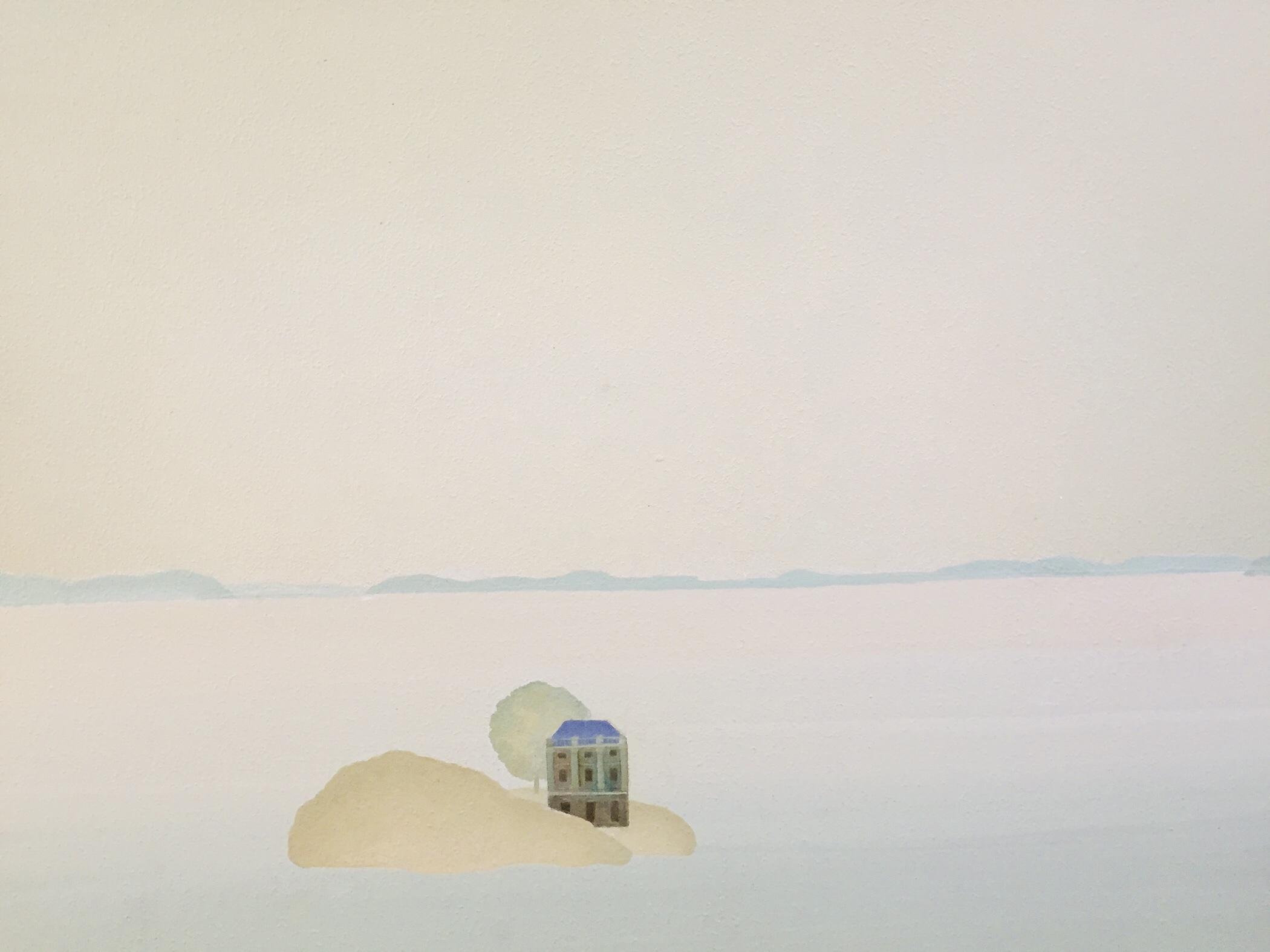 """Island, 30 x 40"""", 2019, Acrylic on canvas"""