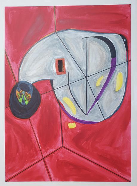 Do Yeop Lee, Francis Bacon Transform, 2020, Acrylic, marker, watercolor, 72 x 53 cm, $1,000