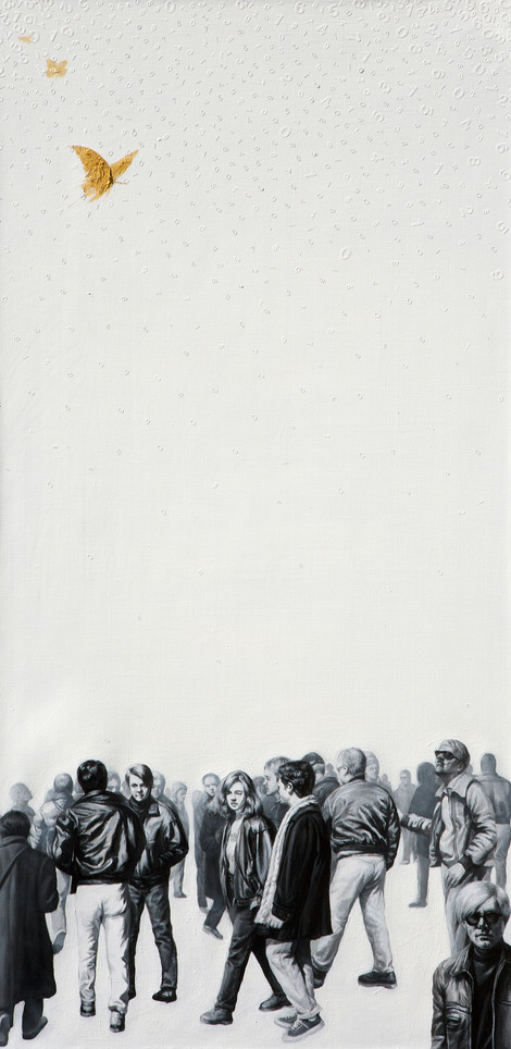 Hobong Kim, he Lack 2, - Dream, desire, oblivion, 2020, Oil on canvas,36 x 72 inches, $9,000