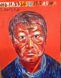 3. Self Portrait 1, 2016, Acrylic on canvas, 14x18 inches