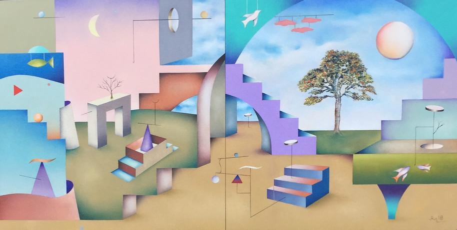 "Jeffrey Melzack ""Realizing Potential"" 12""x24"" Oil/Canvas, 2018"
